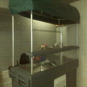 Food cart and stand alone sink cart.