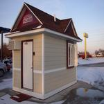 Two drive-thru windows, restroom, equipment and more!