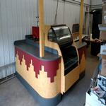 Never used indoor kiosk with a gas fired coffee roaster!